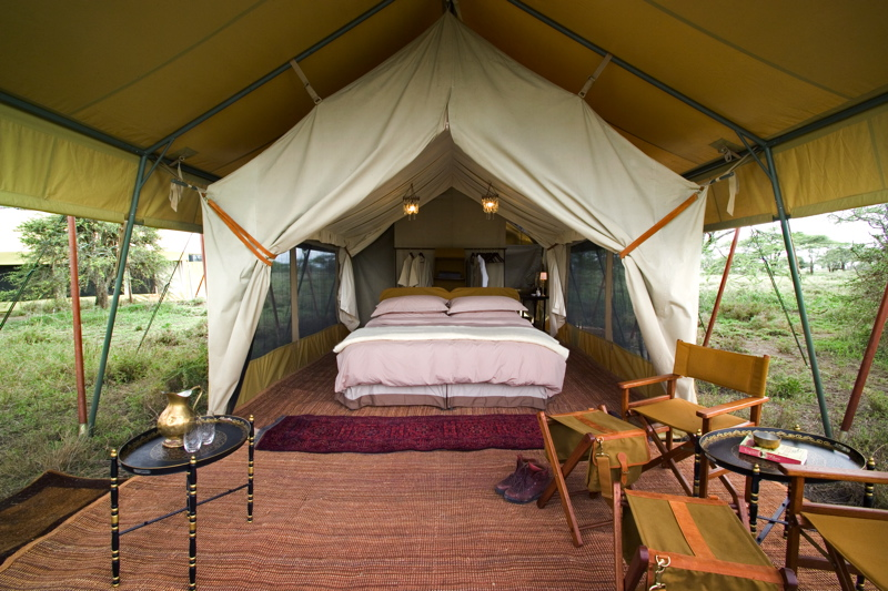 Srengeti under canvas for Permanent camping tents